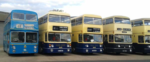 Daimler Fleetline Line Up